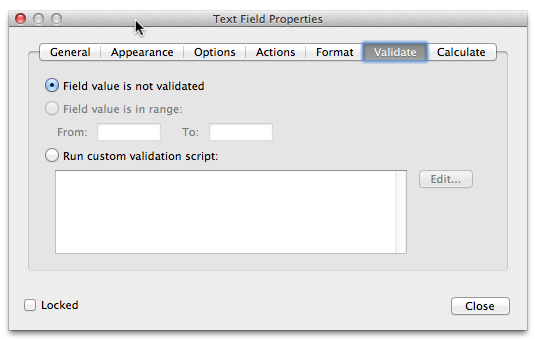 Adobe Acrobat JavaScript: Validating Fields with Custom Validation