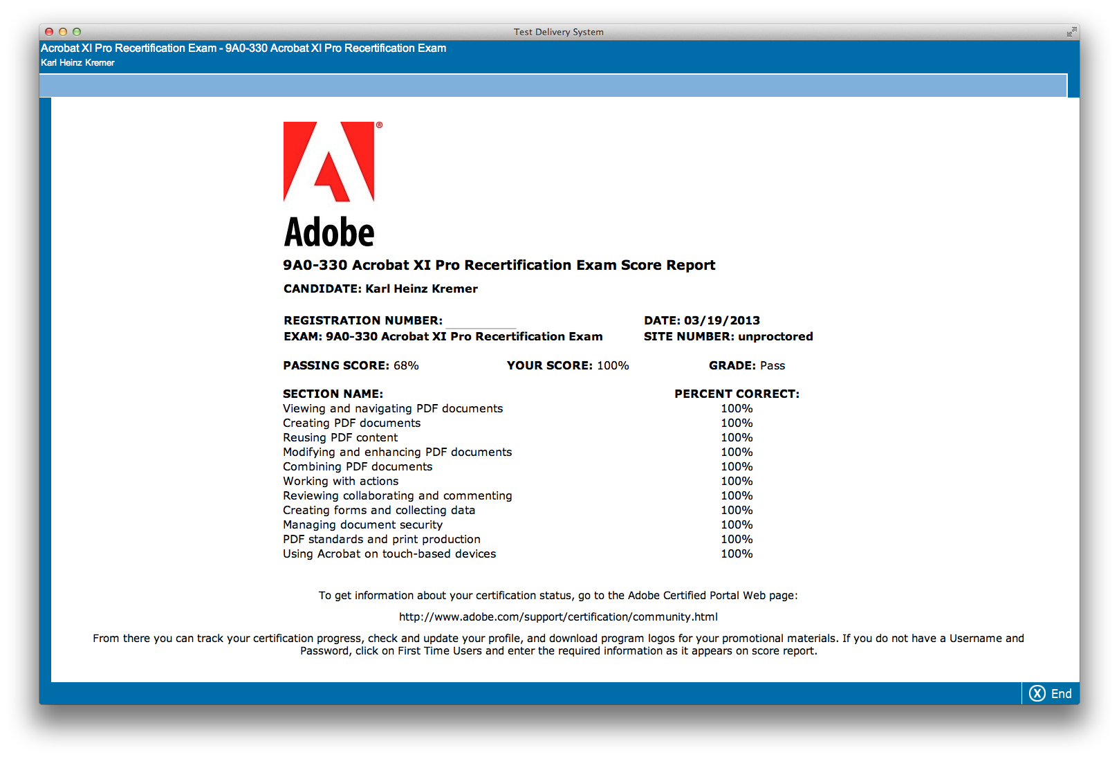 adobe certification tests