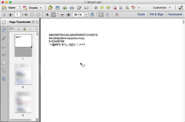 Screenshot of fixed document