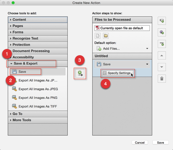 Screenshot of 'Create New Action' Dialog