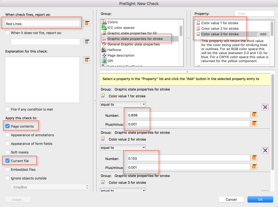 Screenshot of the dialog that allows the user to add a new Preflight Check
